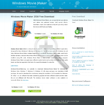 Windows Movie Maker preview. Click for more details
