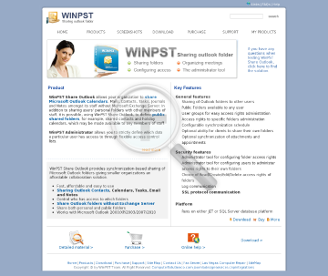 WinPST Share Outlook preview. Click for more details