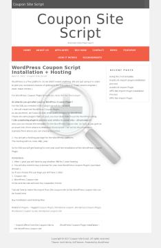 WordPress Instalation and Hosting preview. Click for more details