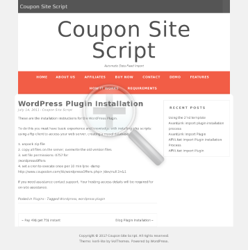 Wordpress Plugin preview. Click for more details
