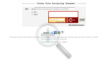 XSS Scanner preview. Click for more details