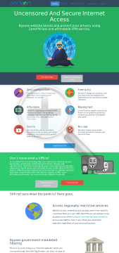 ZenVPN VPN access preview. Click for more details